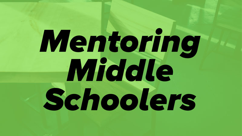 mentoring middle schoolers serve week elk river mn